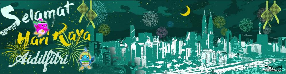 Howei Hari Raya Banner