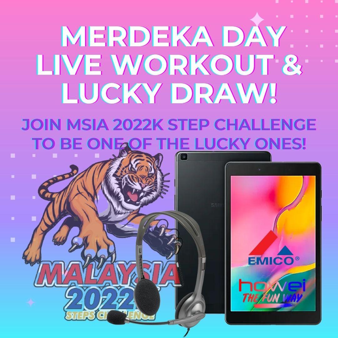 Merdeka Malaysia 2022k Steps Challenge Howei Virtual Event